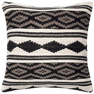 Loloi Loloi-PSETP0095GYMLPIL3-Grey/Multi Decorative Accent Pillow 22  x 22  Cover w/Poly, 22  x 22 , Grey/Multicolor