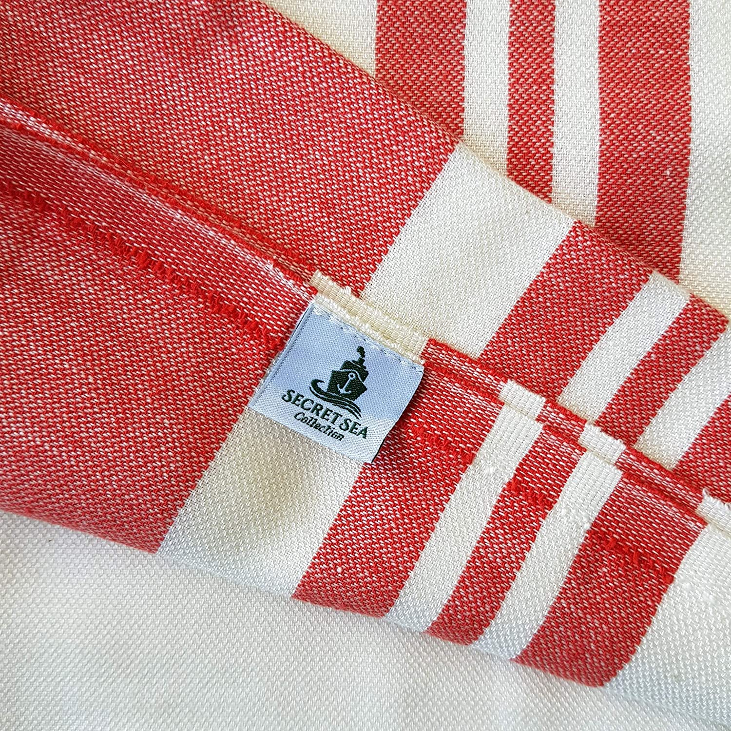 Yoga Pool Fitness Bath Hammam Gym Babycare Secret Sea Collection 100/% Bamboo Towel Peshtemal For Beach Spa Camping Backpacking Pomegranate Red