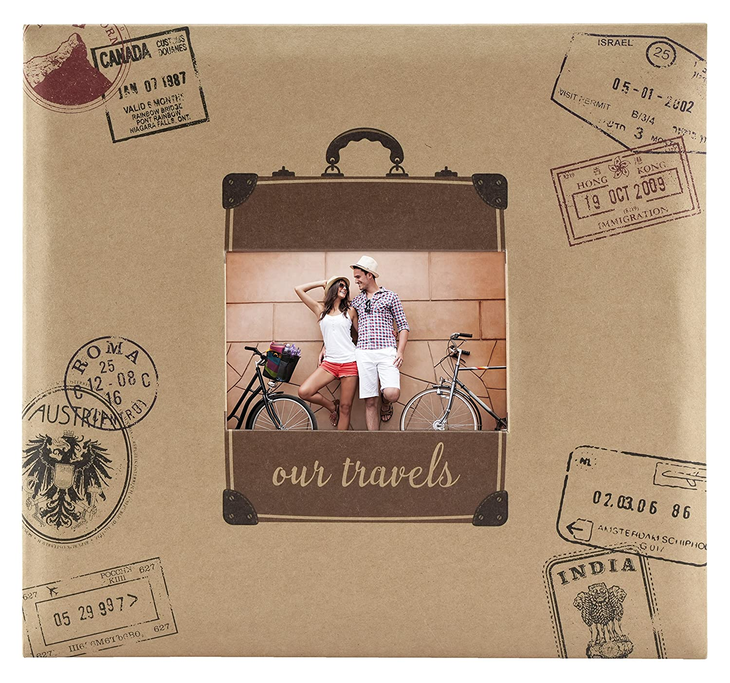 MCS MBI 13.5x12.5 Inch Travel Theme Scrapbook Album with 12x12 Inch Pages (860132) MCS Industries