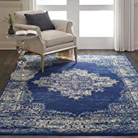 Deals on Nourison Grafix Navy/Blue Area Rug 6x9-FT