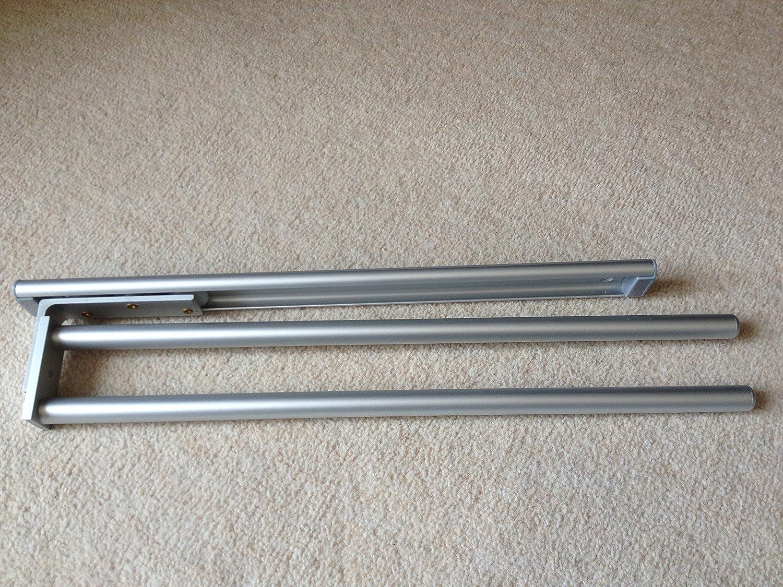 2 arm Aluminium finish Kitchen Towel Rail by UK Kitchens