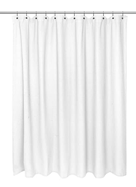 Carnation Home Fashions Waffle Weave 100 Cotton Shower Curtain Size 72quotx72quot