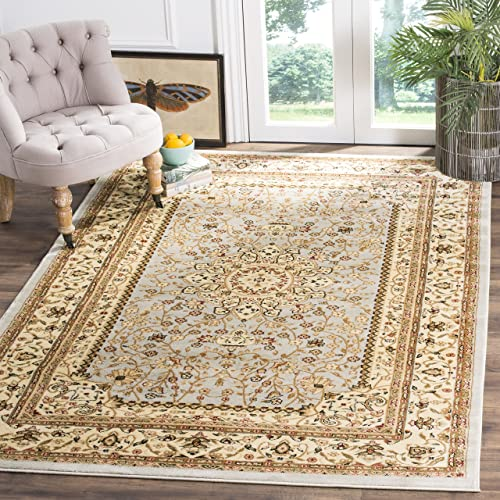 Safavieh Lyndhurst Collection LNH213G Traditional Oriental Medallion Grey and Beige Area Rug 4 x 6