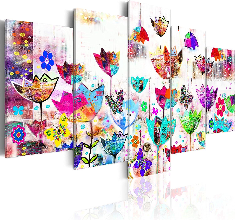 murando - Cuadro en Lienzo 200x100 - Impresión de 5 Piezas Material Tejido no Tejido Impresión Artística Imagen Gráfica Decoracion de Pared Abstracto 020101-171