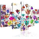 Quadro 200x100 cm - 5 Parti - Quadro su tela fliselina - Stampa in qualita fotografica ᅵ astrazione QUADRO 020101-171 200x100 cm B&D XXL