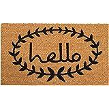 Home & More 121811729 Calico Hello Doormat