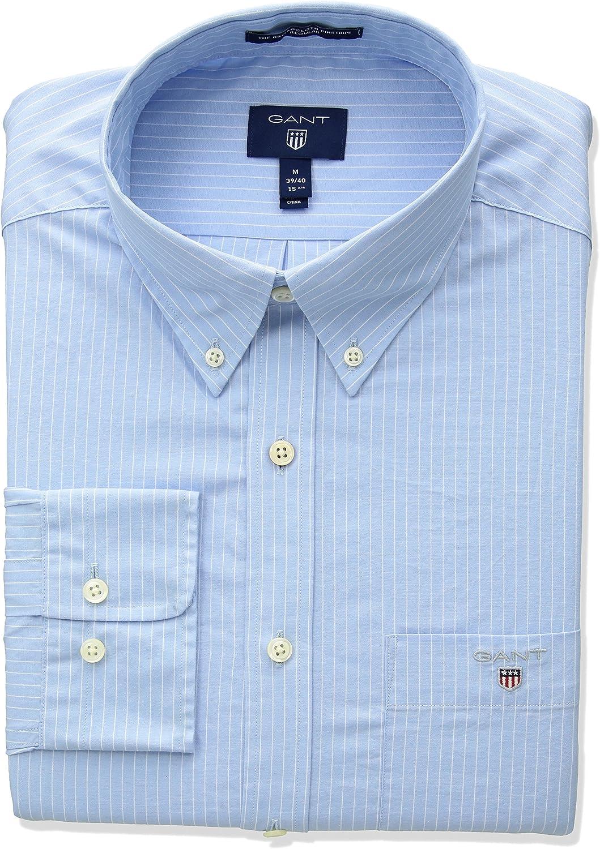GANT The Broadcloth Pinstripe Reg BD Camiseta Deporte para Hombre