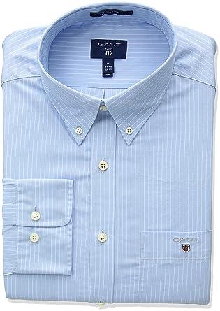 a7afd71e GANT Men's Classic Broadcloth Stripe Shirt at Amazon Men's Clothing store: