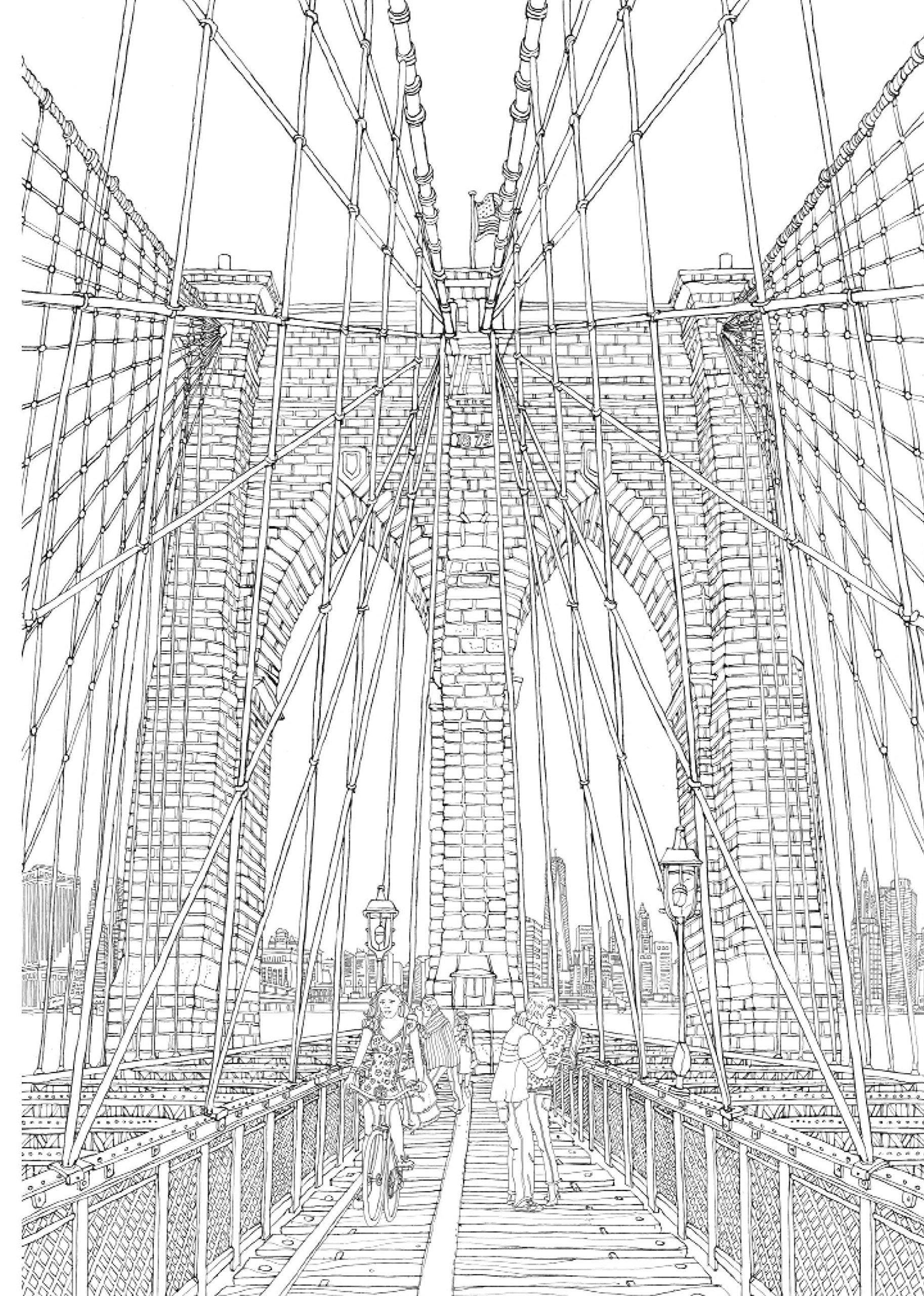 Mal dir New York: 20 zauberhafte Stadtansichten zum Ausmalen ...