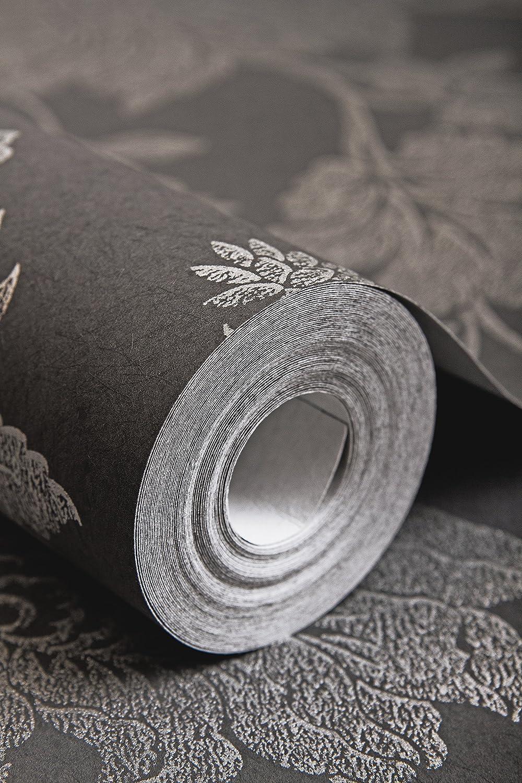 Graham /& Brown Papier peint intiss/é Collection Artisan Noir 33 336