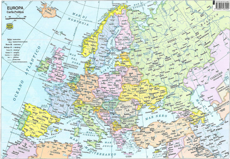 Cartina Politica Italia Formato A3.Europa 1 800 000 Amazon It Cancelleria E Prodotti Per Ufficio