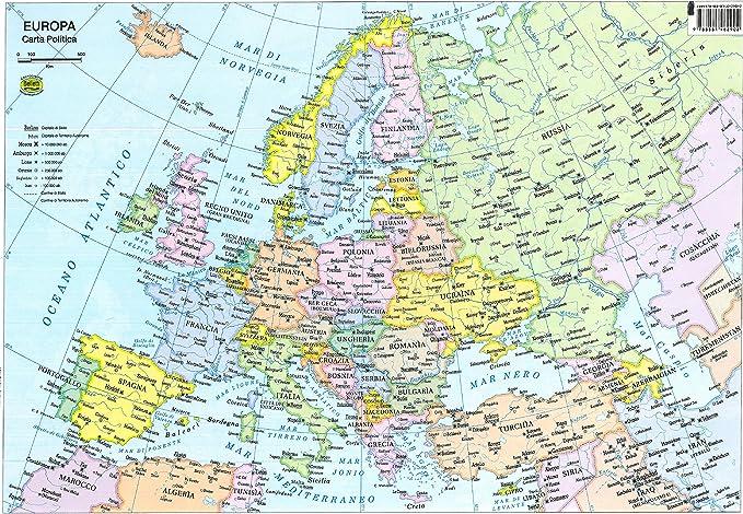Cartina Europa.Europa 1 800 000 Amazon It Cancelleria E Prodotti Per Ufficio