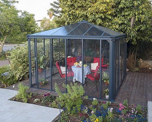 Palram Ledro - Cenador de jardín Cerrado, Estructura de Aluminio ...