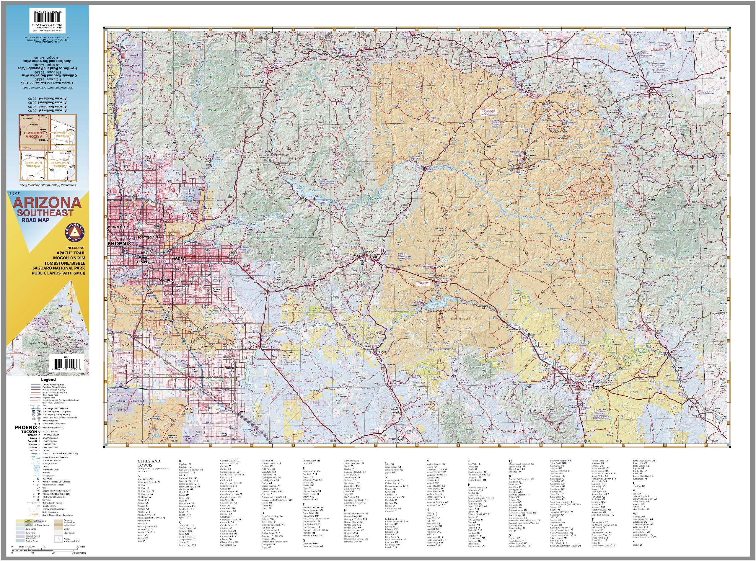 Arizona Southeast Benchmark Maps Arizona Regional Benchmark