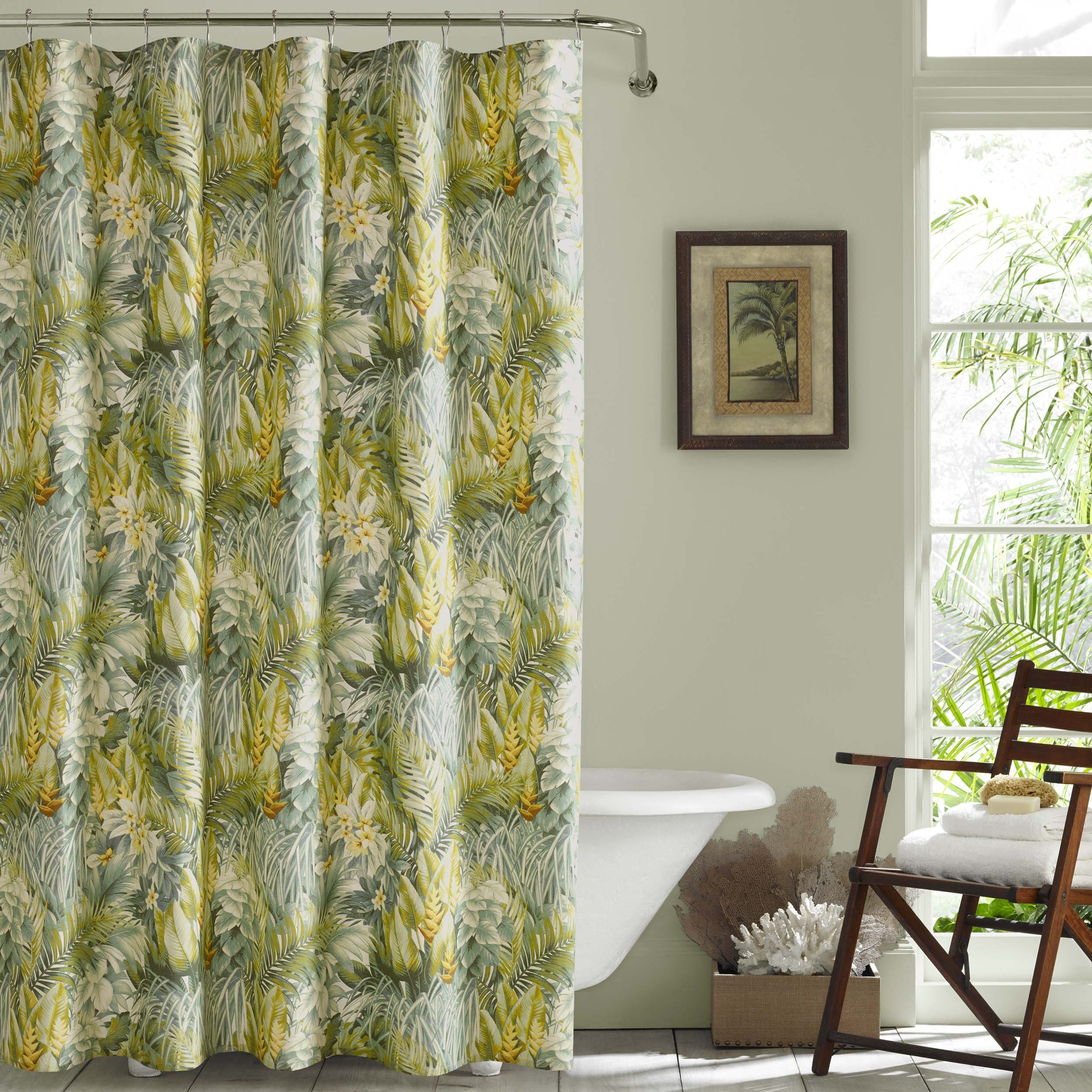 Tommy Bahama Cuba Cabana Shower Curtain 72'' x 72'' Medium Green