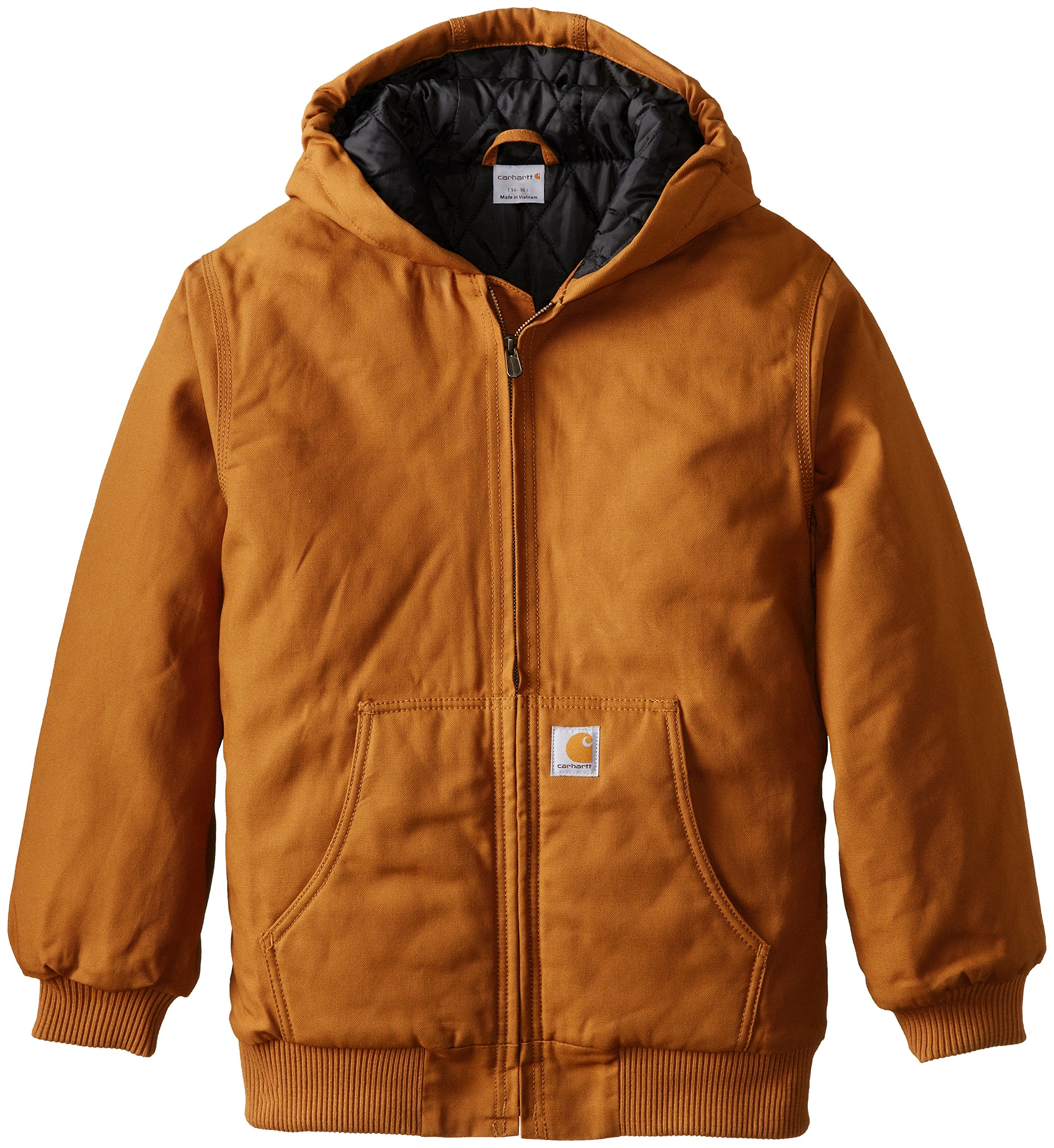Carhartt Big Boys' Work Active Jacket, Carhartt Brown, Small/7/8 by Carhartt