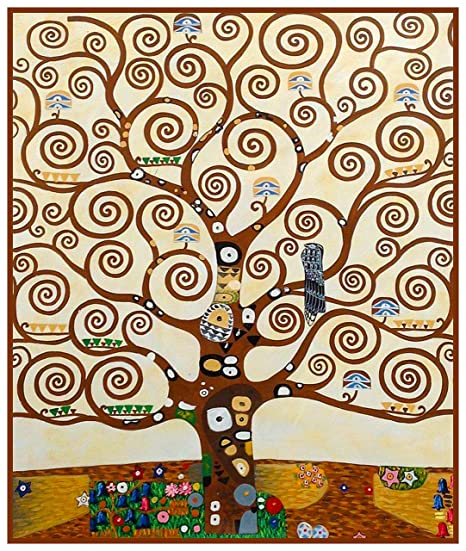 Orenco Originals Tree Of Life Detail By Gustav Klimt Counted Cross Stitch Pattern