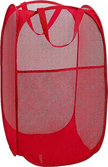Mesh Popup Laundry Hamper Portable Durable Handle Storage Folding Basket