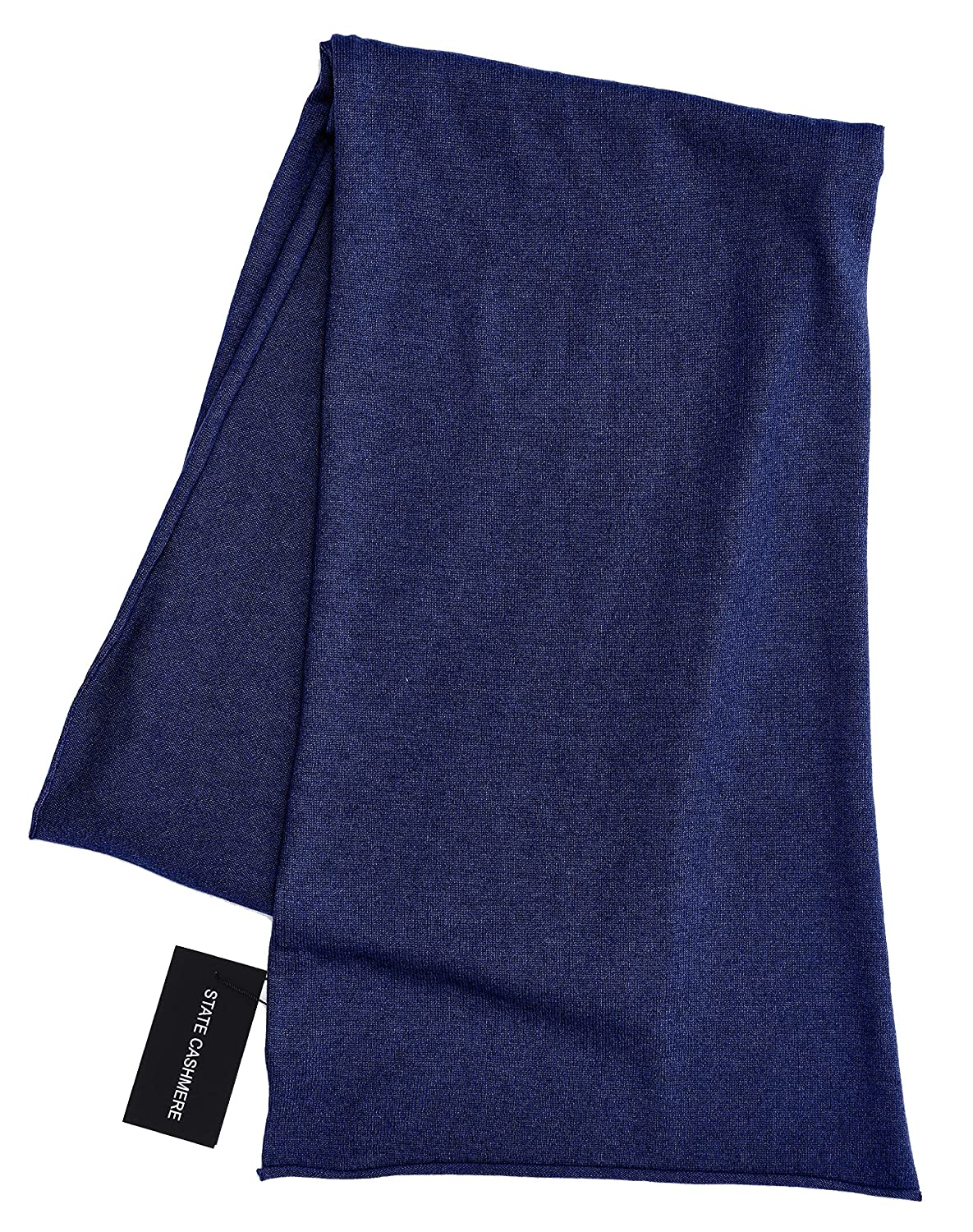 State Cashmere 100% Cashmere Solid Color Scarf Wrap, Soft and Cozy 80x13.5