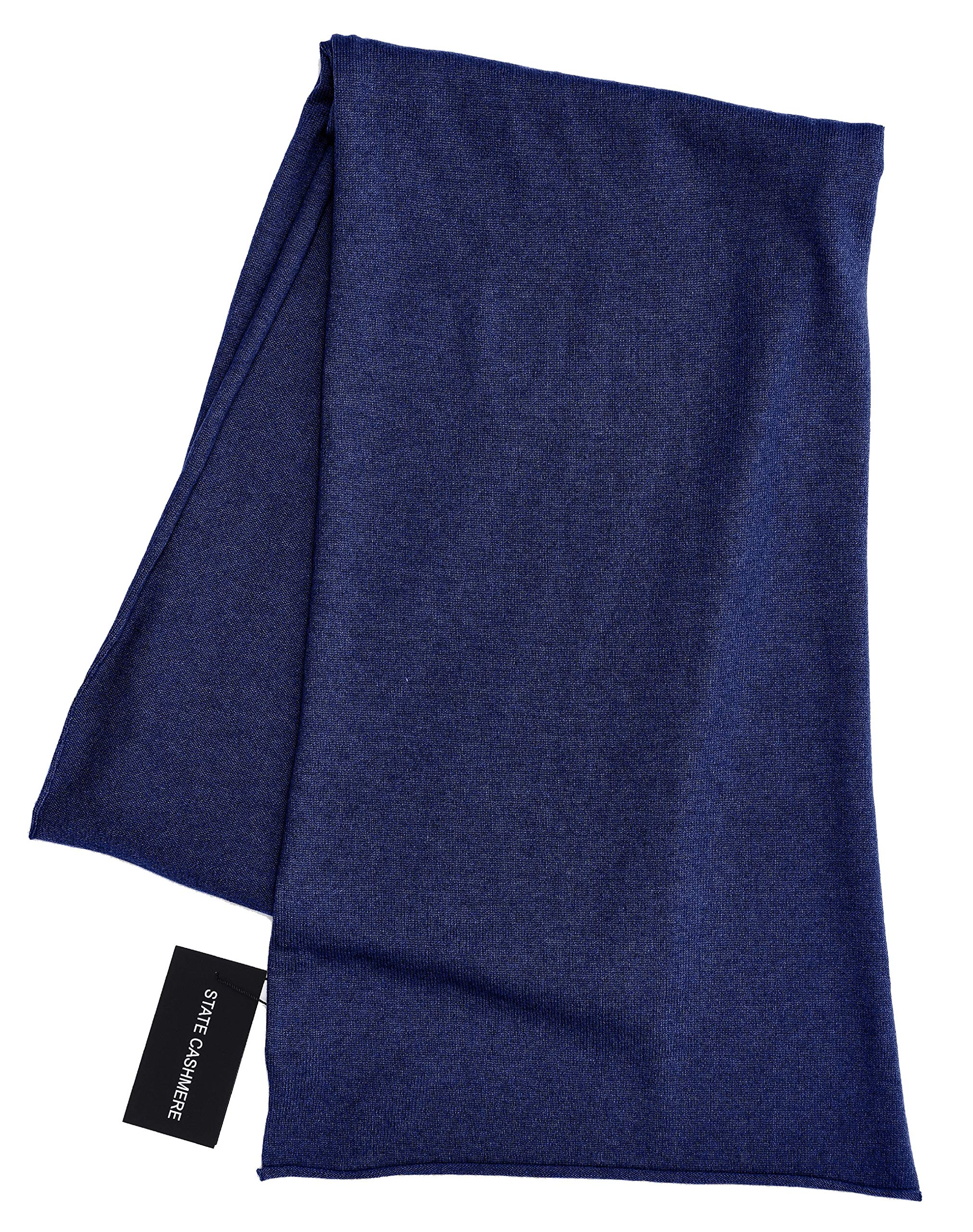 State Cashmere 100% Pure Cashmere Solid Color Scarf Wrap, Ultimate Soft and Cozy 80''x13.5''