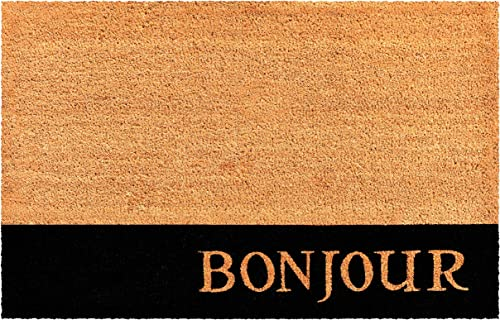 Calloway Mills AZ104822436 Bonjour Stripe Doormat, Natural Black
