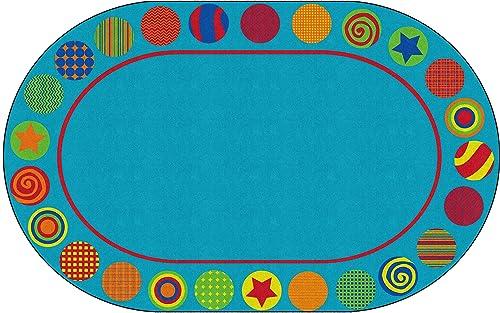 Flagship Carpets Patterned Circles Colorful Seating Carpet