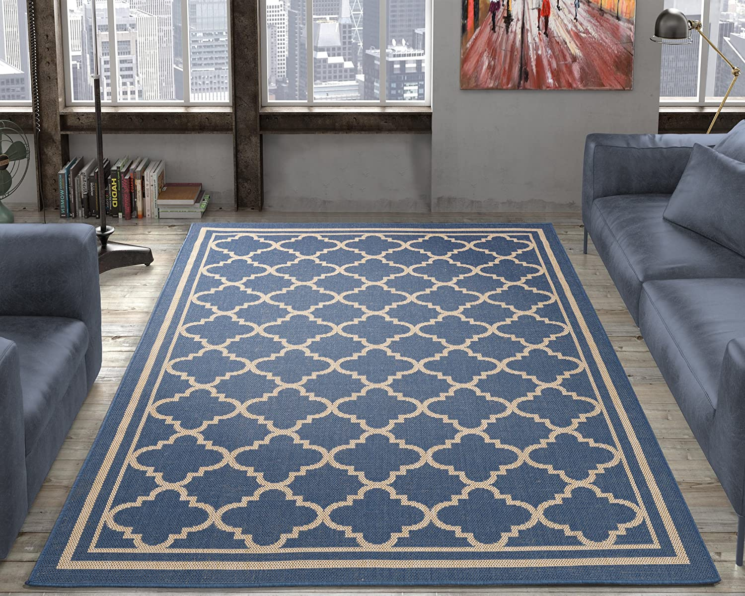 Amazon.com: Ottomanson Jardin Collection - Alfombra de yute ...