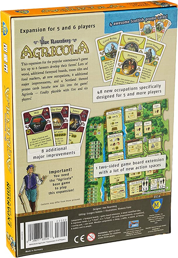 Mayfair Games mfg03516 – de Tablero Agricola Expansion 5 – 6 ...