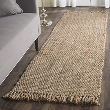 Safavieh Natural Fiber Collection NF467A Hand Woven Natural Jute Runner (2'6  x 12')