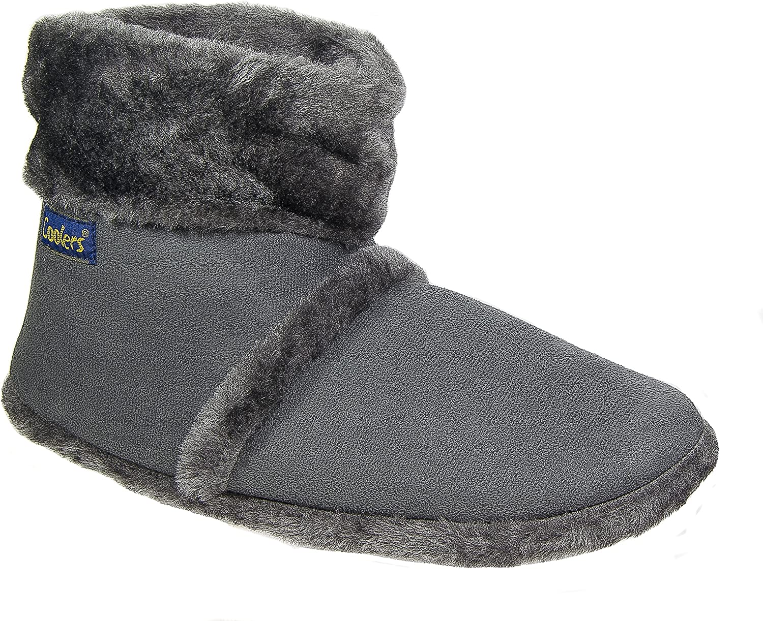 Coolers Ladies Slippers Boots Microsuede Deep Plush Collar