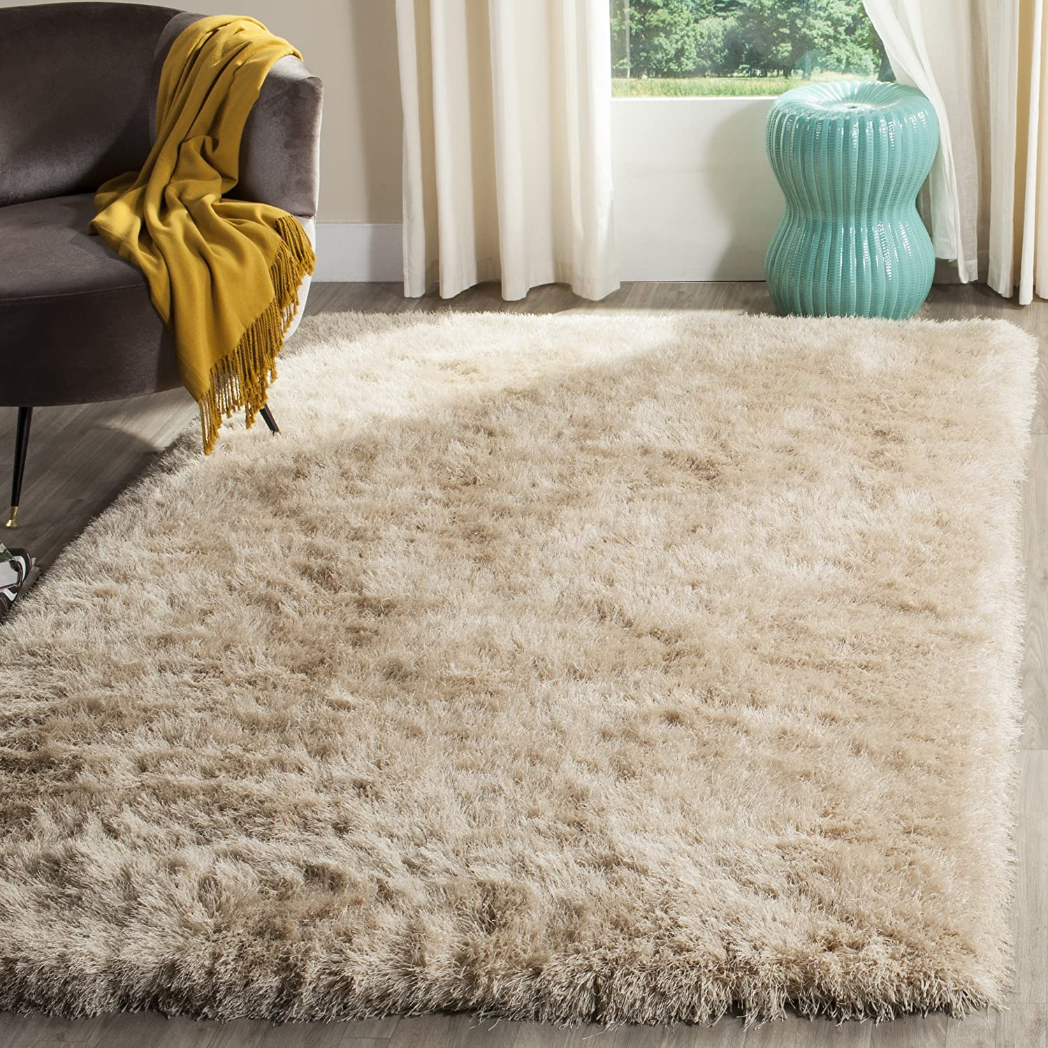 rugs brown beautiful floral contemporary shag handmade wool modern area rug