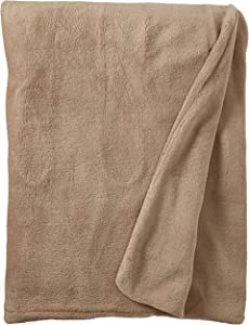 Biddeford 4430-906434-700 Electric Heated MicroPlush Throw, 50-Inch by 62-Inch, Taupe