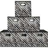 Attrayant Prorighty [6 Pack, Zebra Pattern] Storage Bins, Containers, Boxes,