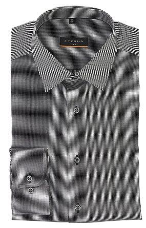 cheap for discount ec79c 360c7 eterna Herrenhemd Langarm Slim Fit Grau Strukturiert ...