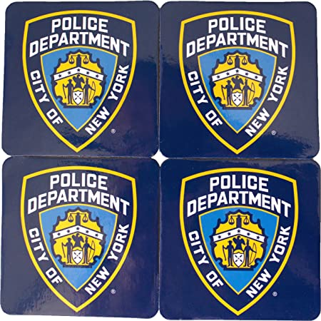 New York Drink Coaster Set of 4 NYPD Police Department