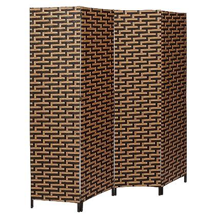 amazon com decorative freestanding black brown woven design 4