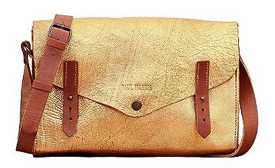 LINDISPENSABLE Braun Büffelnder Handtasche Vintage Style PAUL MARIUS PAUL MARIUS 7DEWcV