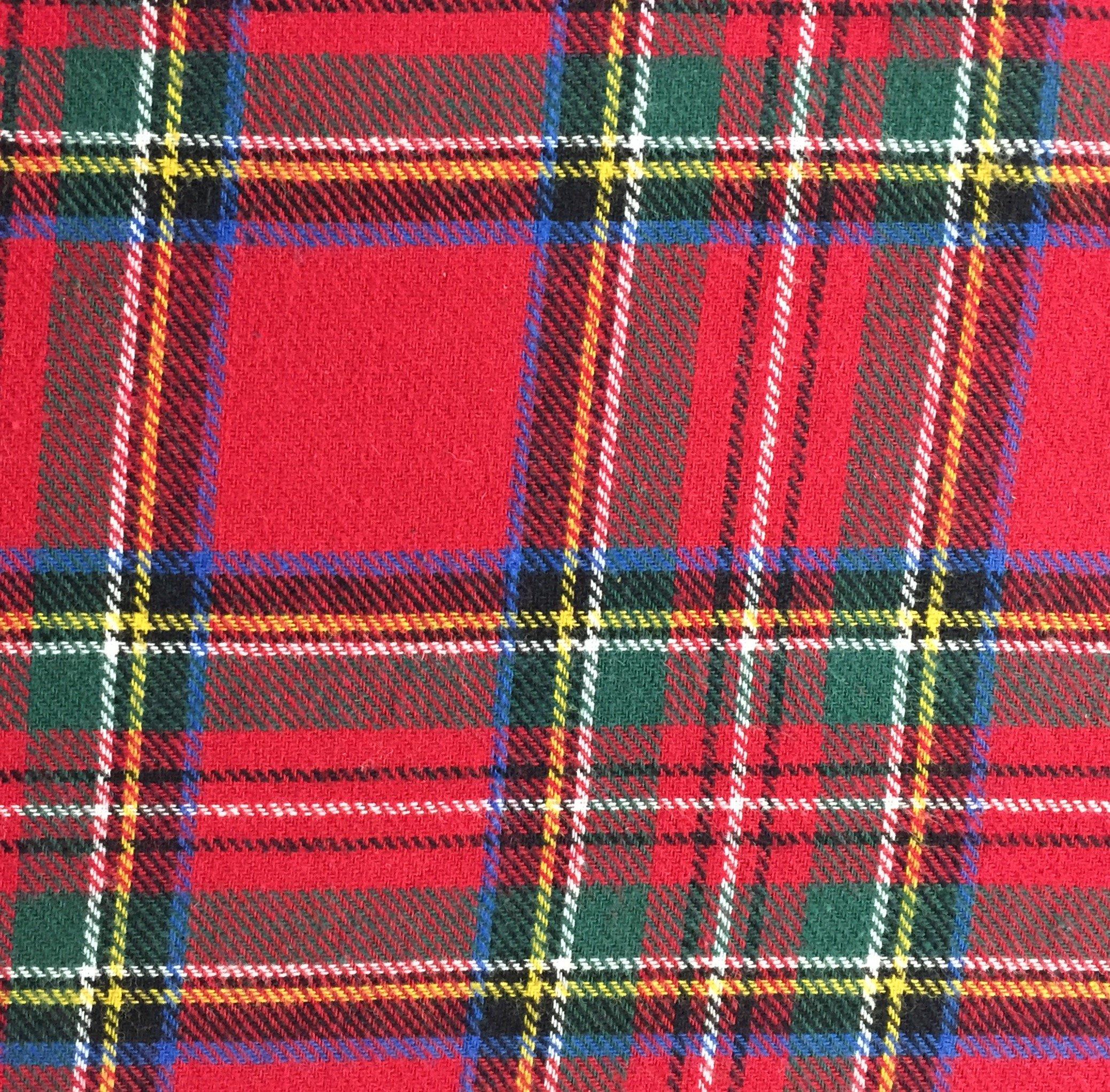 5 Yard Bolt Royal Stewart Plaid Flannel Cotton Fabric