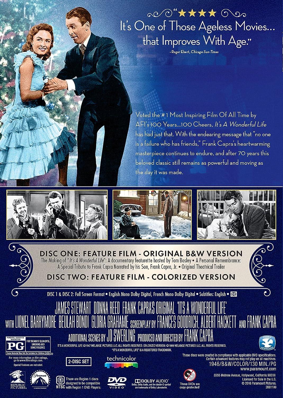 Amazon Com Its A Wonderful Life James Stewart Donna Reed Lionel Barrymore Thomas Mitc Henry Travers Beulah Bondi Frank Faylen Ward Bond