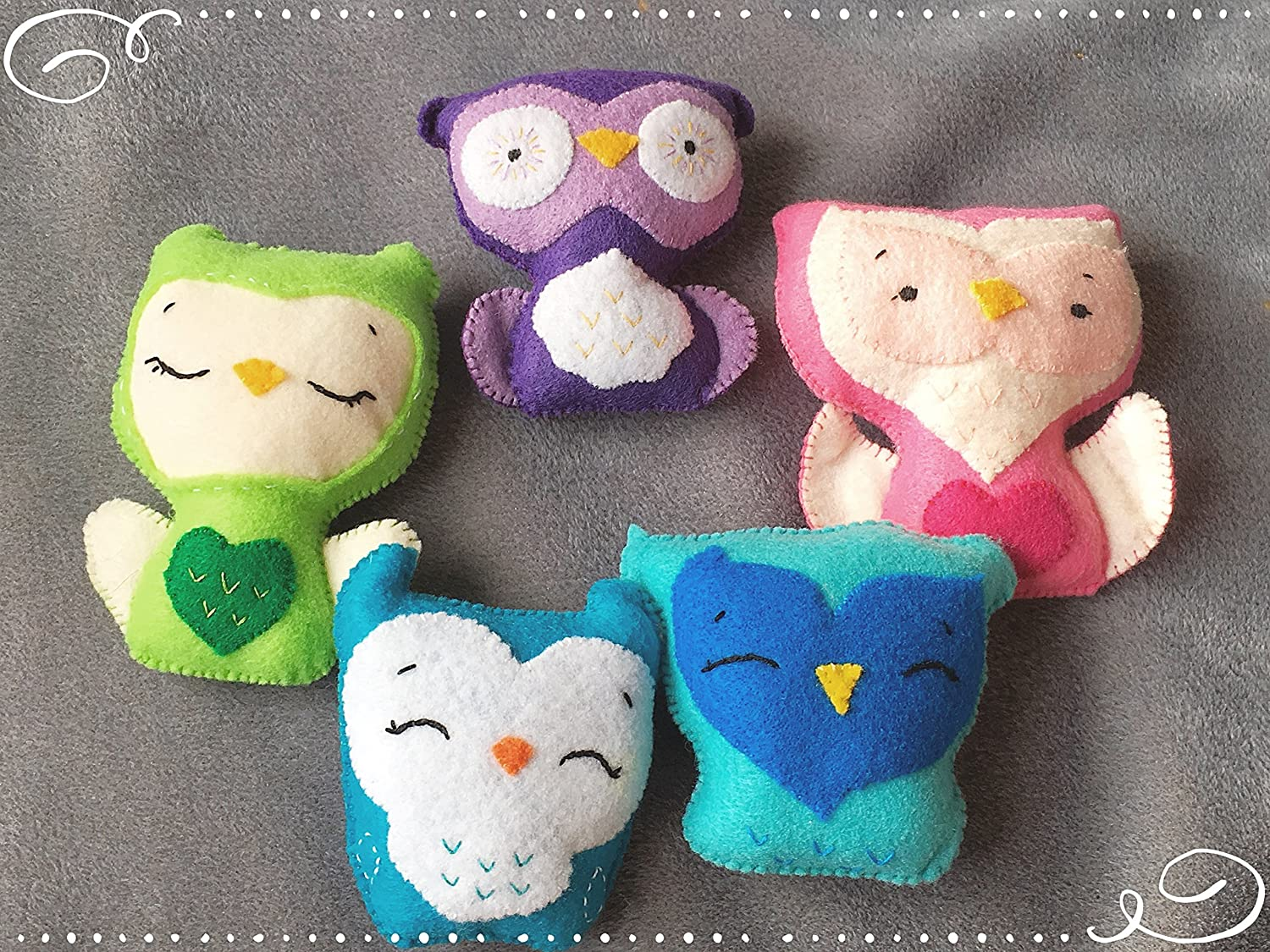 Amazon Com Owl Felt Plush Softie Hand Sewn With Love Handmade