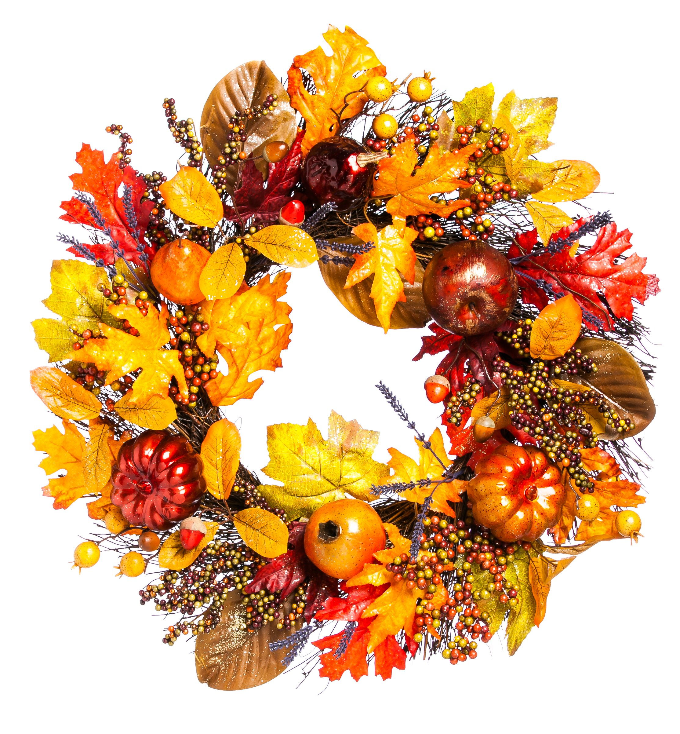 Cypress Home Holiday Harvest 24-inch Wreath