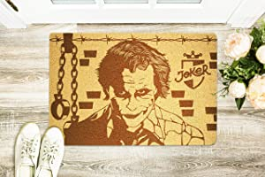 Gifts and Crafts Store Joker DC Comics 24x16 inch Doormat Personalized Entry Engraved Rug Anti-Slip Rubber Mat Home Decor Wedding Housewarming Birthday for Men Women Wife Husband Neighbors