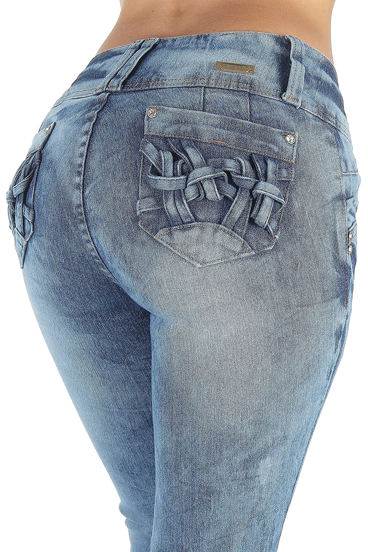 N702SKP - Plus Size, Colombian Design, Butt Lift, Levanta Cola, Skinny Jeans