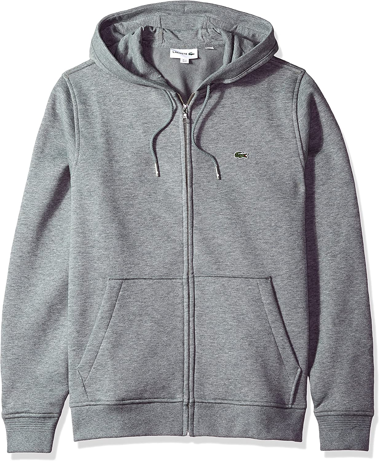 Lacoste Men's Long Sleeve Full Zip Hoodie Sweatshirt, SH3294