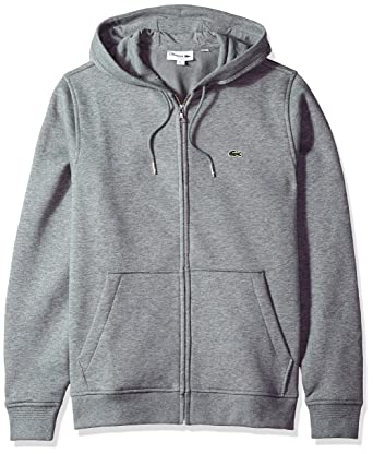 f191e4cca5b Lacoste Men s Long Sleeve Full Zip Hoodie Sweatshirt