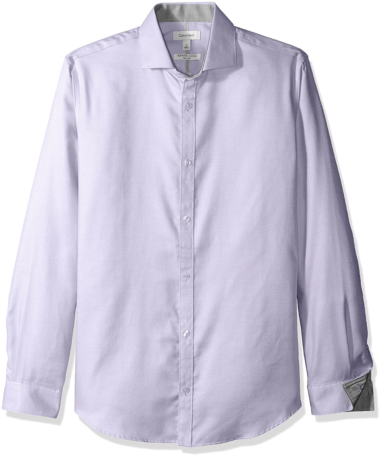 Calvin Klein Men's Dobby Twill Infinite Cool Long Sleeve Button Down Shirt 811W122