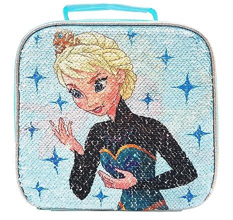 Amazon.com: Disney Frozen bolsa de almuerzo con lentejuelas ...