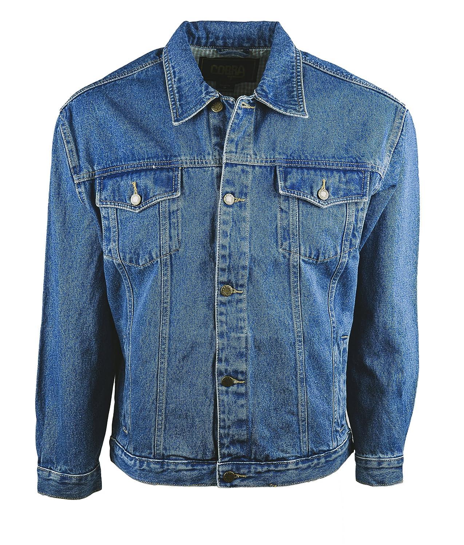cf6d9fceed4 Amazon.com  Funny Guy Mugs Men s Classic Denim Jean Jacket  Clothing