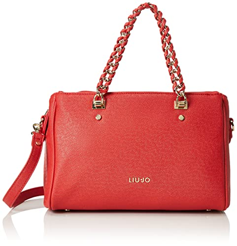 LIU JO ANNA BOSTON BAG A66003E0087-81550 Aurora red  Amazon.it  Scarpe e  borse e6373e701cf