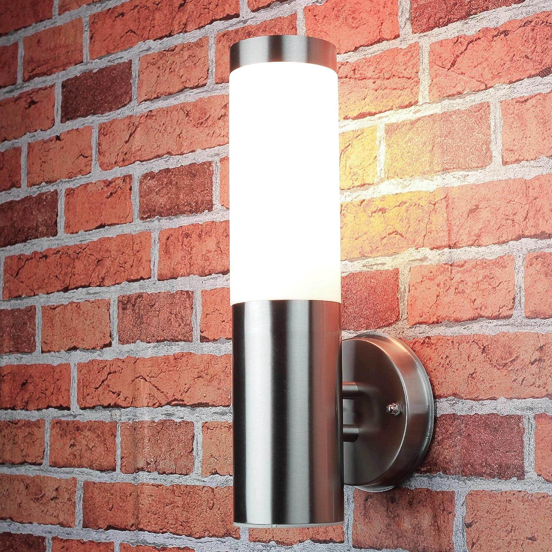Edelstahl Wand-Außenleuchte IP44 Außenlampe Hoflampe Gartenlampe Gartenleuchte Wandlampe 1003up BTR Hilight